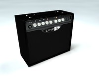 guitar amplifier 3d c4d