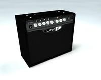 guitar amplifier 3d c4d