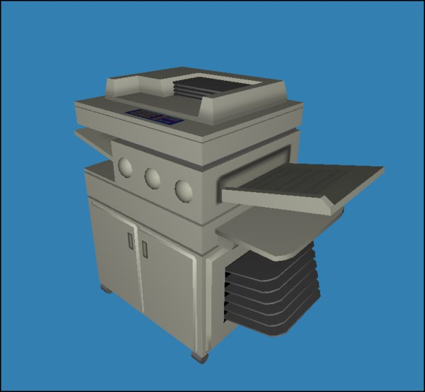3d model of copy copier - Freestanding Copier (Low Poly)... by TexelGirl