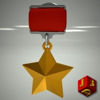 3d model hero soviet union medal