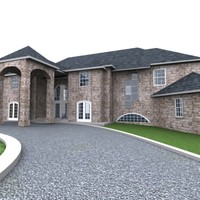3d fully house model
