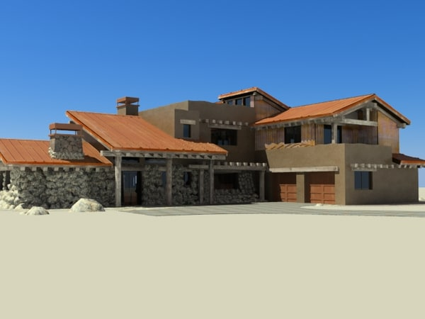 3d model of tuscan style home for Tuscany model homes