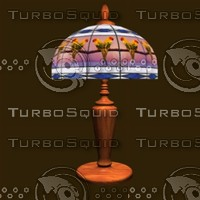 tiffany lamp 3d model