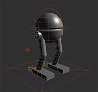 robot animed 3d model