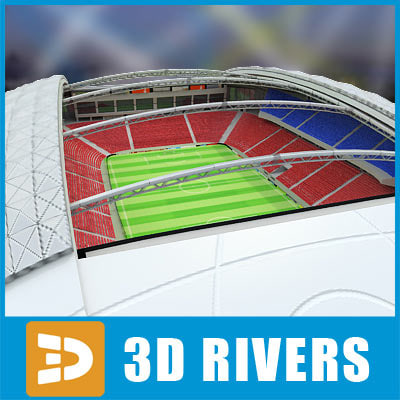 Soccer stadium 01 by 3DRivers
