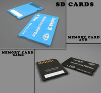 sd memory cards 2gb 3d model