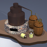 whiskey rot-gut 3d model