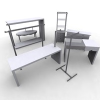 3d model retail fixtures