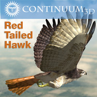 Red Tailed hawk - Rigged for Lightwave