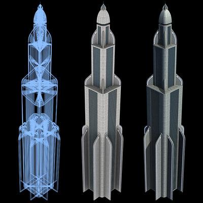 Sci-Fi Buildings - Series 1: Mile-High Skyscraper 3