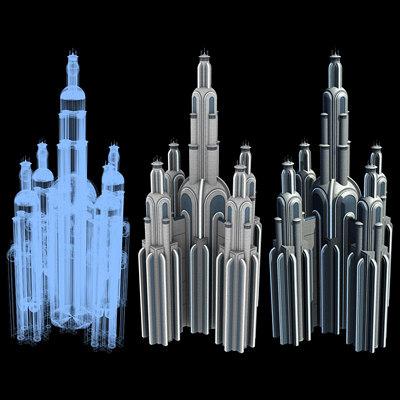 Sci-Fi Buildings - Series 1: Super Skyscraper 13