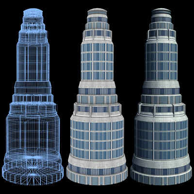 Sci-Fi Buildings - Series 1: Super Skyscraper 2