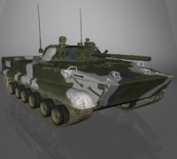 BMP-3 Russian APC next gen game ready model