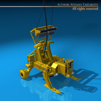 submarine cables deploy robot 3d model