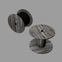 3d model cable spool