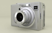 generic point shoot camera 3d model