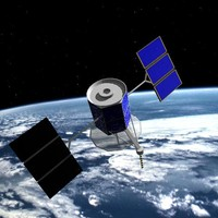 military satellite 3d obj