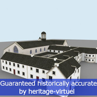 3d historic religious convent