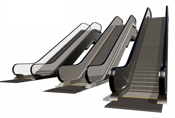 3d escalators stairs - ESCALATORS... by 3DAgent_