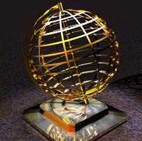 globe atlas 3d obj