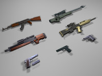 Low Poly Game Ready Guns
