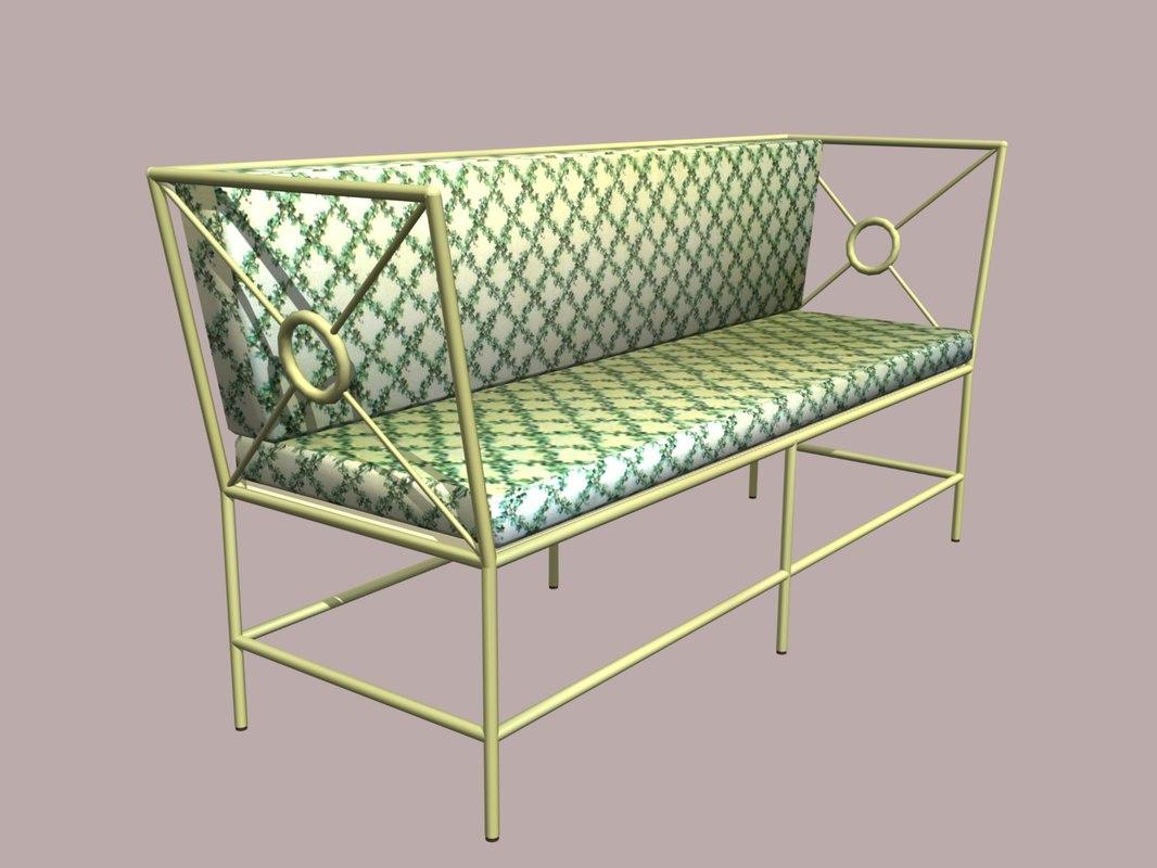 3d Wrought Iron Sofa