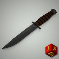 fighting knife 3d model