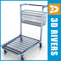 3d large shopping cart model