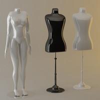 manequin human woman 3d max