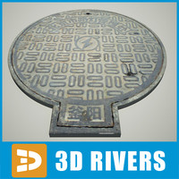 manhole hole 06 3d model