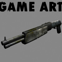 3d shot gun shotgun model