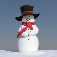 obj snowman hat
