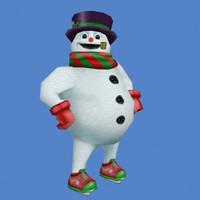 3dsmax xmas snow snowman