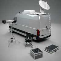 3d model broadcast van equipment