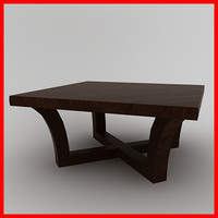 Modern wood coffe table
