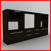 tv media furniture cabinet 3d model