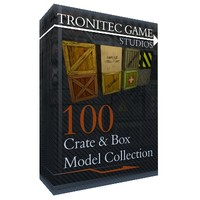 3d model of 100 crate box