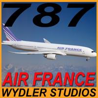 787-3 air france 3d model