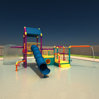 3ds max aquatic play structure