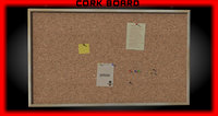 cork board 3d 3ds