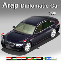 3d arap diplomatic car luxury model