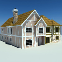 3ds max old world european townhouses