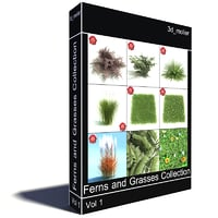 3ds max ferns grasses