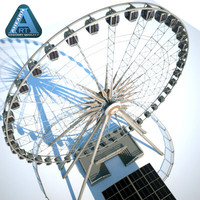 Niagara Sky Wheel with Ticket Booth and Platform