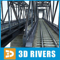 Reinforced concrete train bridge by 3DRivers
