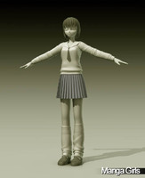 3d model manga girl suzuki