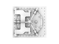 3d model vault safe door