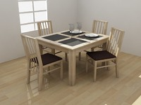 Atlantis Dining Set - High Quality Furniture 3d model