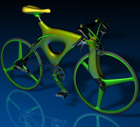 3d model racing bicycle