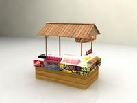3d burger shop -